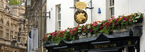 Cardiff Old Market Tavern flowers