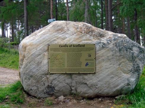 Center of Scotland plaque near Laggan