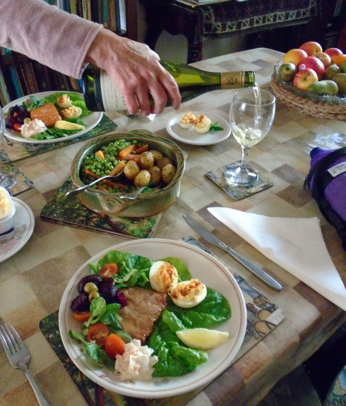 Dinner at Donald & Morag Barr's, 7-15-15