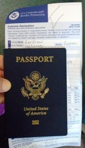 I got a bad grade at Newark on customs form
