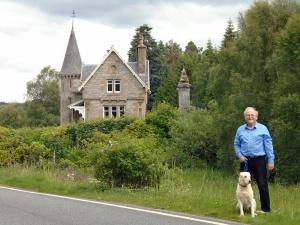 Ian Hall, Poppy at Ardverikie Estate Gate aka Glenbogle, near Laggan, Scotland