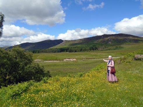 Morag Barr at Macpherson croft, Glen trail, Newtonmore, 7-15-15, MP Renfrew