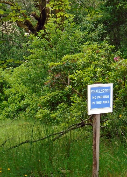 Polite notice - No Parking, Glenfinnan