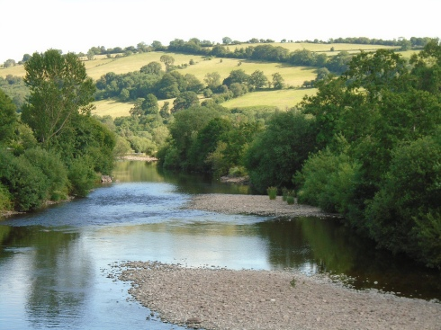 RIver Usk, Brecon, Wales, MP Renfrew