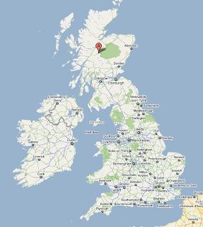 adverikie location monarch of glen scotland map