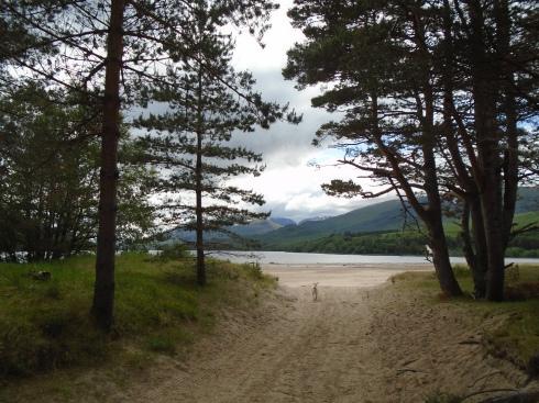Path to Arverikie lake