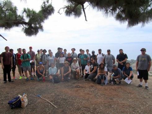9-12-15 LAHC Geography Field Trip, Dr. Melanie Renfrew's students