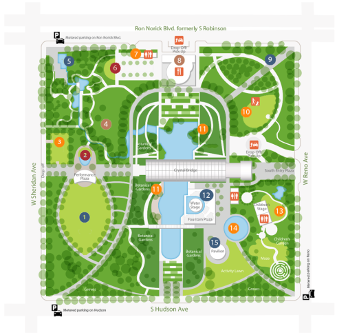 OKC Botanical Gardens map
