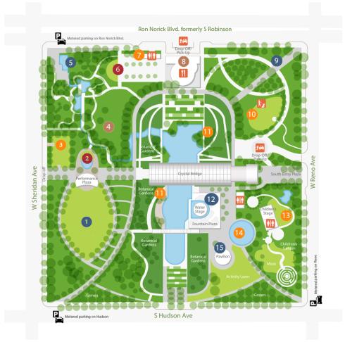 OKC Botanical Gardens map