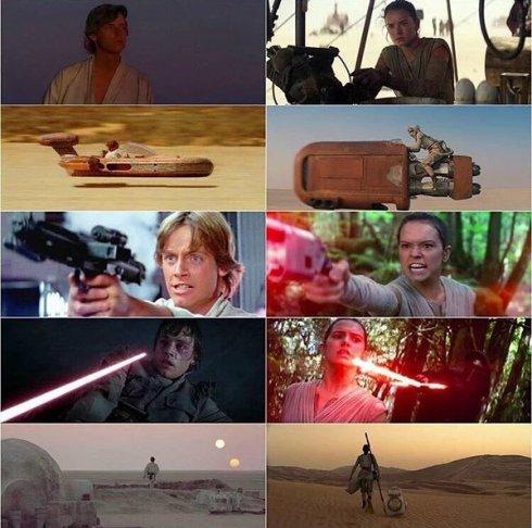 Luke, Rey photos Star Wars