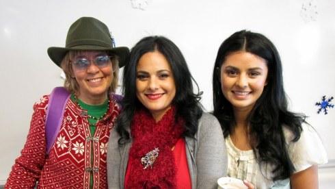 Melanie Renfrew, Yvette, Natalie Parra, Dec. 2015