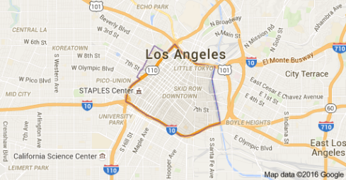 Downtown L.A. map
