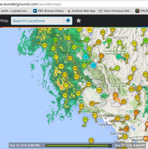 Radar wundermap 3-5-16 CA rain