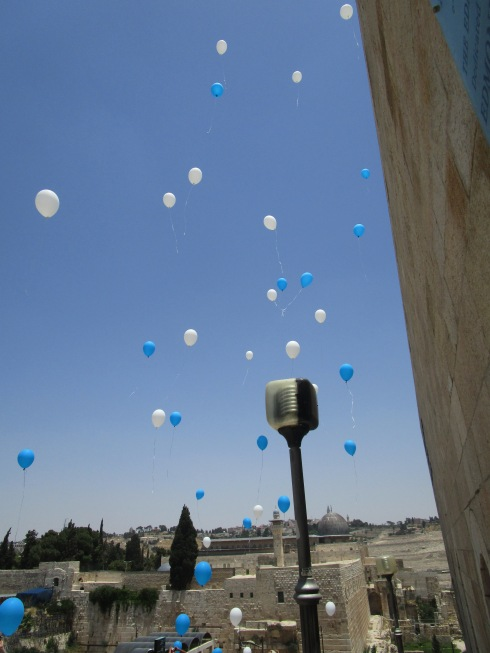 Bar Mitzvah party balloons, Jerusalem MPR