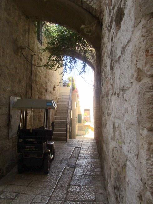 Empty Old City Jerusalem, Fri. 4 p.m. 6-23-16 MP Renfrew 1