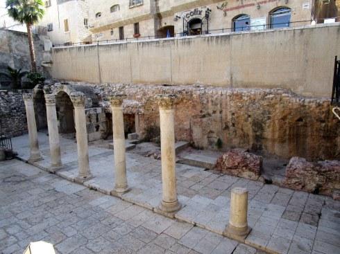 Roman collonade, Old City Jerusalem, Fri. 4 p.m. 6-23-16 MP Renfrew 6