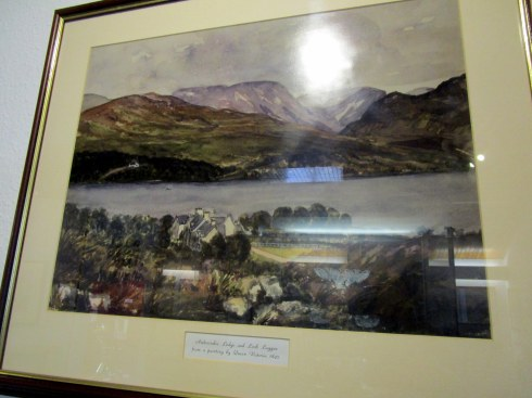 Ardverikie painting by Queen Victoria, 1847, Clan MacPherson Museum