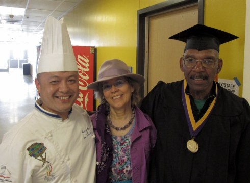 Chef Jimmy Ng, Dr. Melanie Renfrew, Chef Jackson June 2016 LAHC