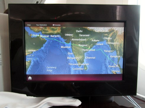 Doha-Phuket map in Qatar seat