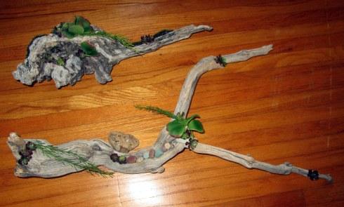 Dr. Renfrew's driftwood arrangmts. 7-30-16