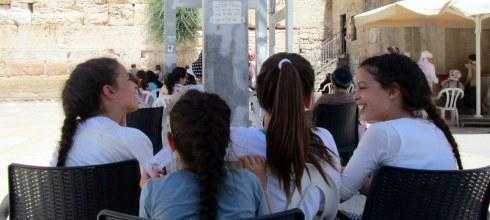 Twins at the W. Wall, Jerusalem 6-16, MP Renfrew
