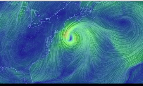 post-tropical cyclone Hermine off NE U.S., 9-5-16