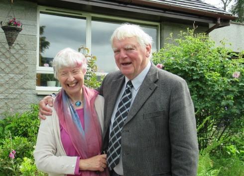 Donald & Morag Barr in Newtonmore, 1